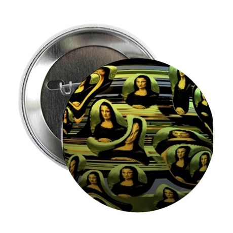 Da Vinci's Coded Mona Lisa Button