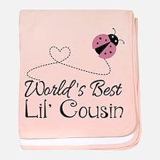 Worlds Best Lil Cousin baby blanket