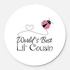 Worlds Best Lil Cousin Round Car Magnet