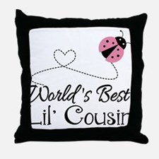 Worlds Best Lil Cousin Throw Pillow