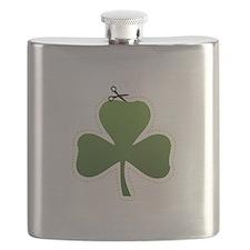 Cute Irish Shamrock Flask