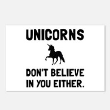 Unicorns Dont Believe Postcards (Package of 8)