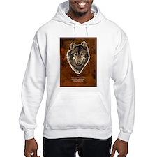 Wolf Totem Animal Guide Watercolor Nature Art Hood