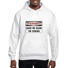Warning Sewing Hoodie