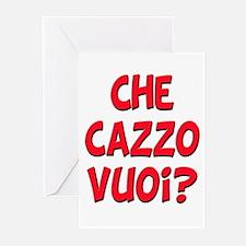 italian Che Cazzo Vuoi Greeting Cards (Package of