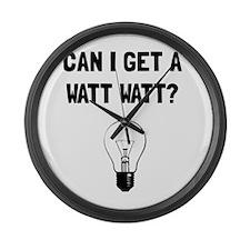 Watt Watt Large Wall Clock