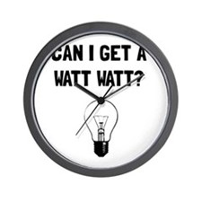 Watt Watt Wall Clock