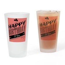Modern Orange Birthday Design Drinking Glass