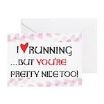 I Heart Running Greeting Card