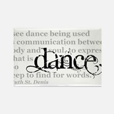 Dance Quote Rectangle Magnet (10 pack)