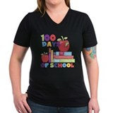 100th day of school Womens V-Neck T-shirts (Dark)
