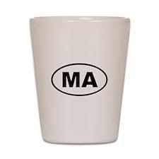 Massachusetts MA Shot Glass