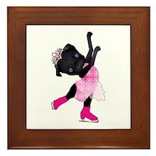 Olympug Figure Skater Black Pug Framed Tile
