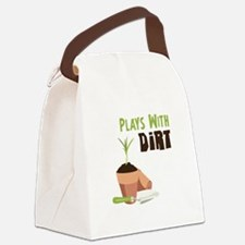 PLAYS WITH DIRT Canvas Lunch Bag