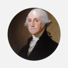 Gilbert Stuart - George Washington Round Ornament