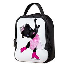 Olympug Figure Skater Black Pug Neoprene Lunch Bag