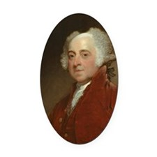 Gilbert Stuart - John Adams Oval Car Magnet
