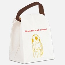 Cute Deutsch Canvas Lunch Bag