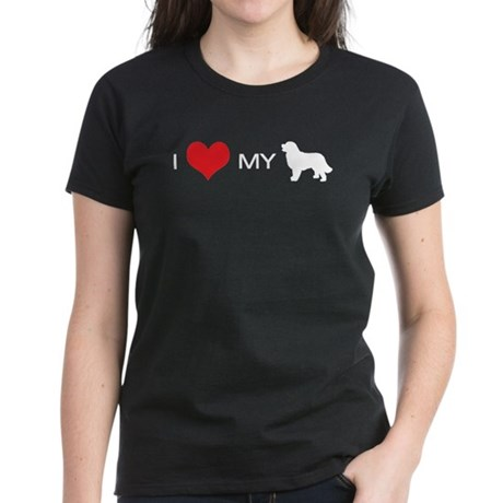 i heart my newfoundland Women's Dark T-Shirt