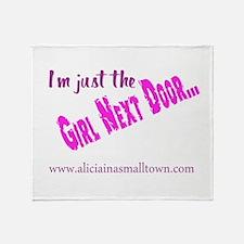 Girl Next Door Throw Blanket