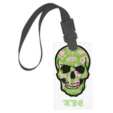 SKULL - NYC - White Luggage Tag
