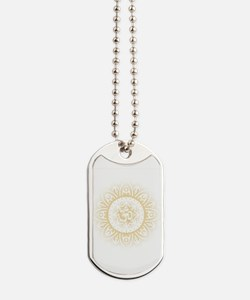 OHM IN MANDALA INDIAN HENNA DESIGN Dog Tags