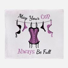 May Your Cup Always Be Full Throw Blanket