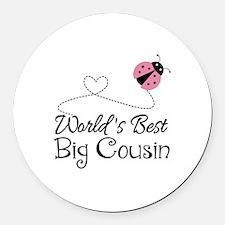 World's Best Big Cousin Round Car Magnet