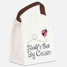 World's Best Big Cousin Canvas Lunch Bag