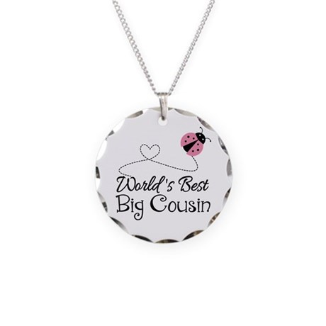world s best big cousin necklace circle charm by