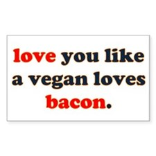 Vegan Bacon Rectangle Decal