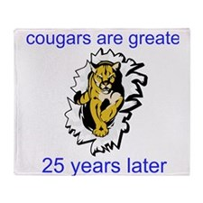 Cougars Are Greater Throw Blanket