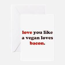 Vegan Bacon Greeting Card