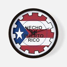 Hecho en Puerto Rico Wall Clock