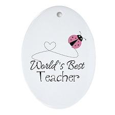World's Best Teacher Ornament (Oval)