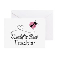 World's Best Teacher Greeting Card