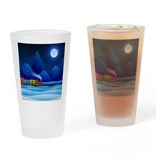 christmas train Drinking Glass