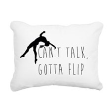 Can't talk Rectangular Canvas Pillow