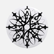 Tribal Snowflake Ornament (Round)