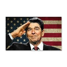 Reagan Flag Car Magnet 20 x 12