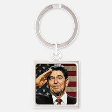 Reagan Flag Square Keychain