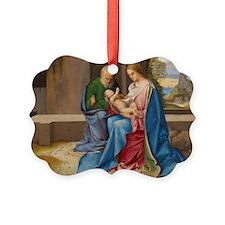 Giorgione - The Holy Family Ornament