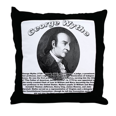 George Wythe 01 Throw Pillow