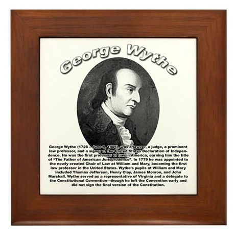 George Wythe 01 Framed Tile