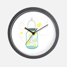 LIGHTNING BUGS Wall Clock