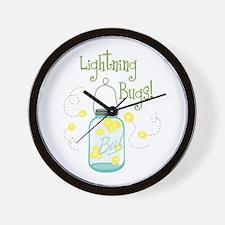 Lightning Bugs! Wall Clock