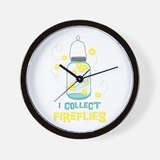 I COLLECT FIREFLIES Wall Clock