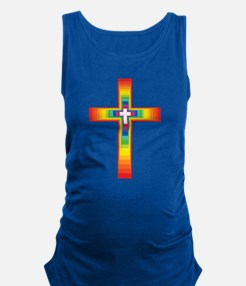 Colorful Cross Maternity Tank Top
