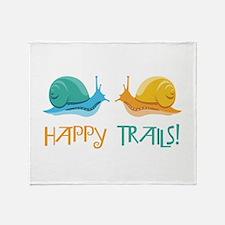 HAPPY TRAILS! Throw Blanket