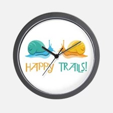 HAPPY TRAILS! Wall Clock